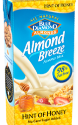 Almond Breeze Hint of honey carton