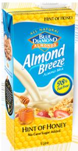 Almond Breeze Hint of honey carton