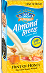 product Almond Breeze Hint of honey carton