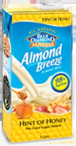 product Almond Breeze Hint of honey carton