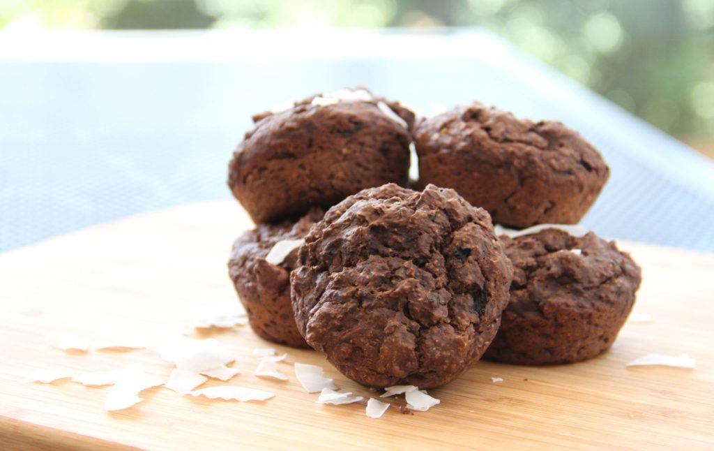 Almond Breeze Chocolate Avocado Muffins
