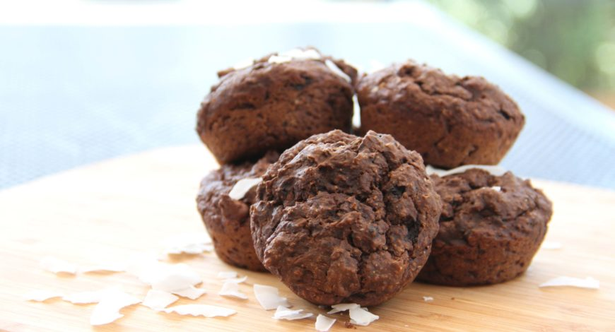 Almond Breeze Chocolate Avocado Muffins
