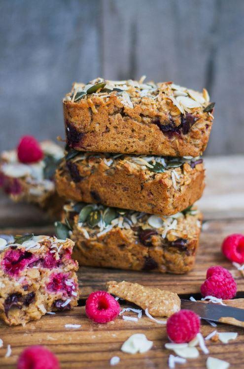 Pheebs Foods Raspberry, Coconut & Almond Breakfast Bars recipe