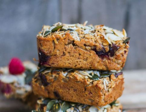 Raspberry, Coconut and Almond Breakfast Bars