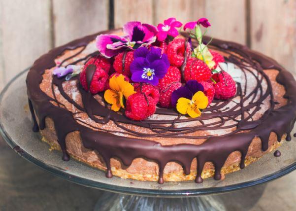 Almond Breeze Chocolate Raspberry Cheesecake
