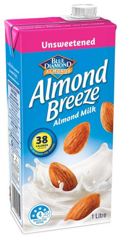 1 litre Unsweetened Almond Breeze Carton