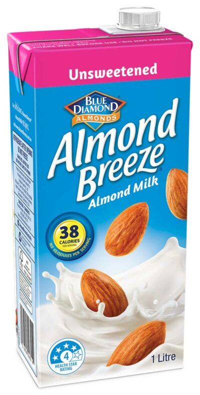 1 litre Unsweetened Almond Breeze Carton