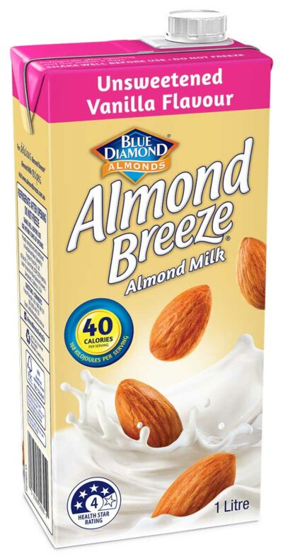 1 litre Unsweetened Vanilla Flavour Almond Breeze