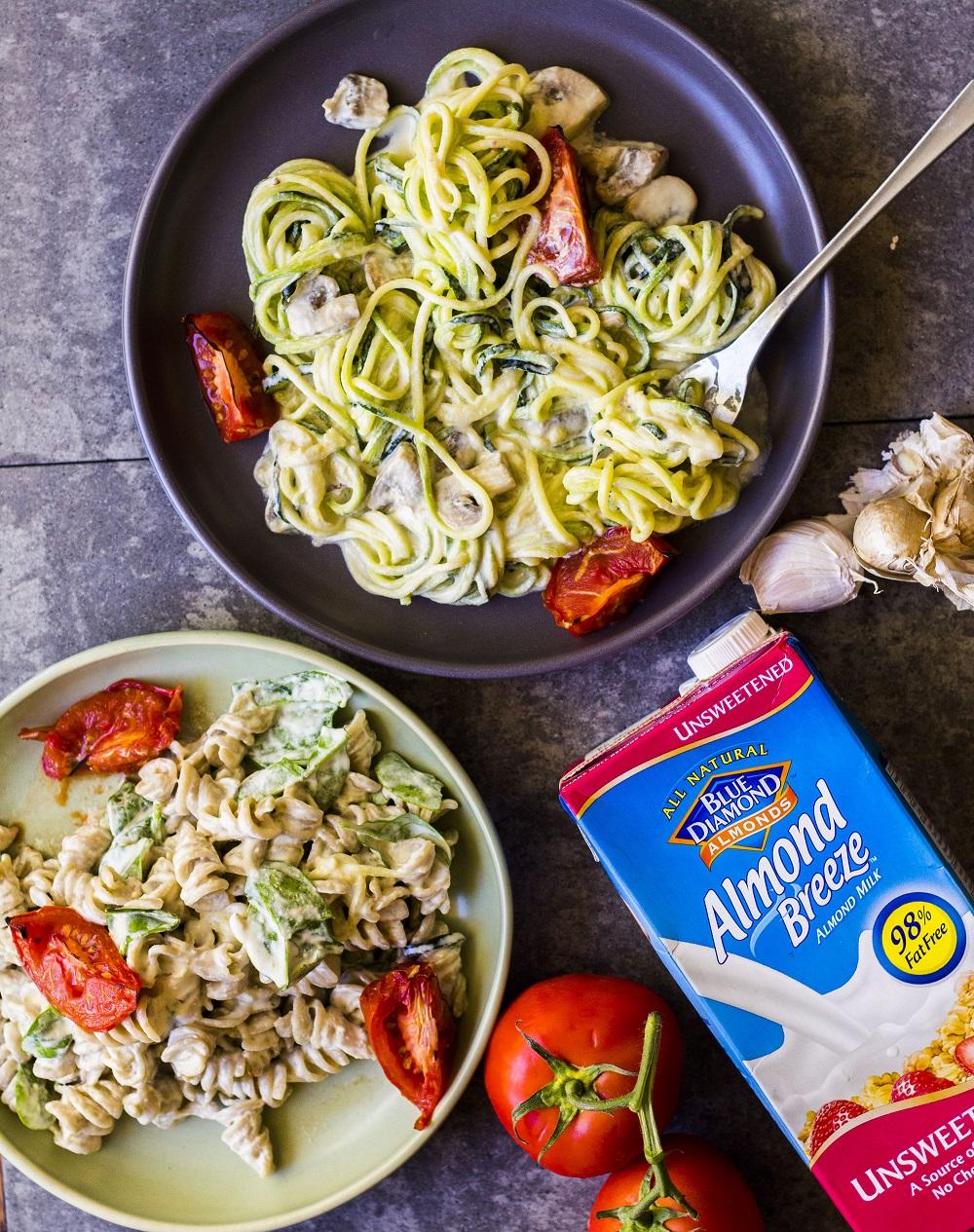 Easy vegan Alfredo pasta