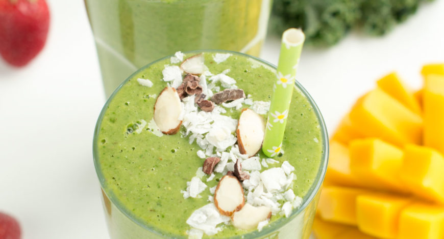 Kale avocado tropical cleanse smoothie