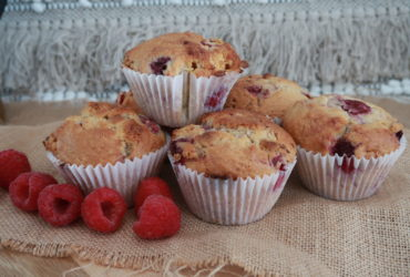 Raspberry & White Chocolate Protein Breakfast Muffins