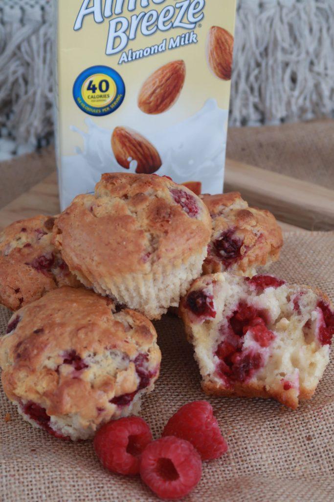 Raspberry & White Chocolate Protein Breakfast Muffins