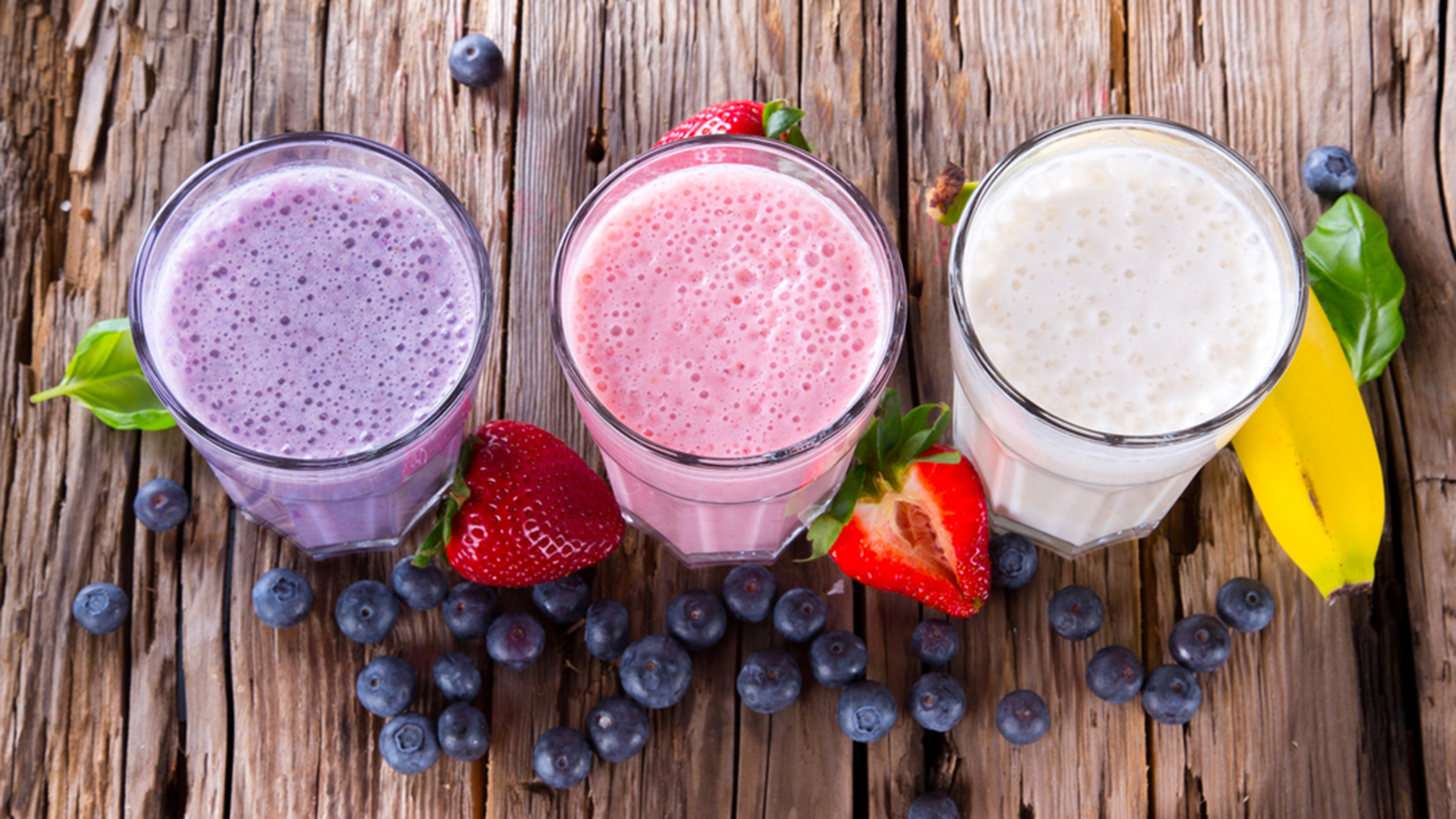 Almond Breeze fruit smoothies